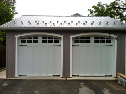 Clopay coachman garage doors farmhouse shed for Farmhouse garage doors