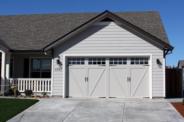 Clopay Coachman Series - Modern - Garage And Shed - other metro - by American Industrial Door, LLC