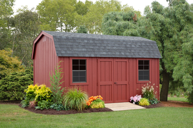 Colonial dutch barn traditional garden shed and for Traditional garden buildings