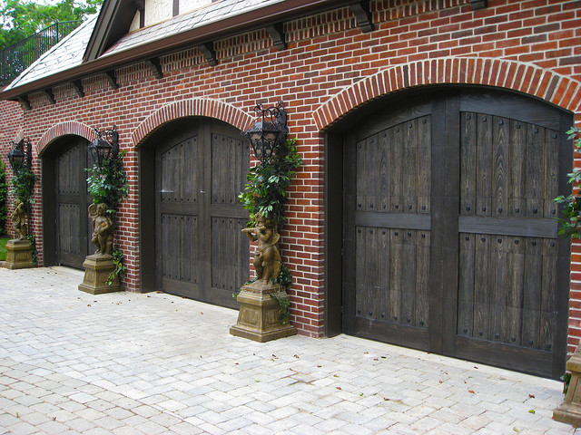 Composite Garage Doors Traditional Garage And Shed