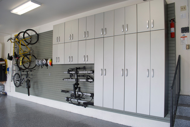 Flow Wall Double Garage contemporary-garage-and-shed