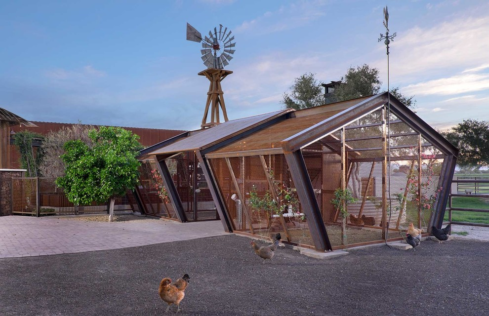Inspiration for a large farmhouse detached garden shed remodel in Phoenix