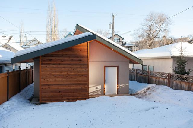 Contemporary river valley infill contemporary garage and shed edmonton - Garden sheds edmonton ...