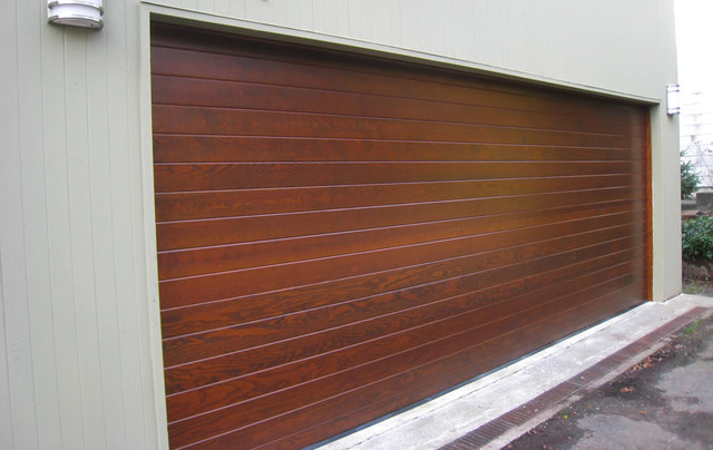 Contemporary Wood Garage Doors Contemporary Shed Austin By
