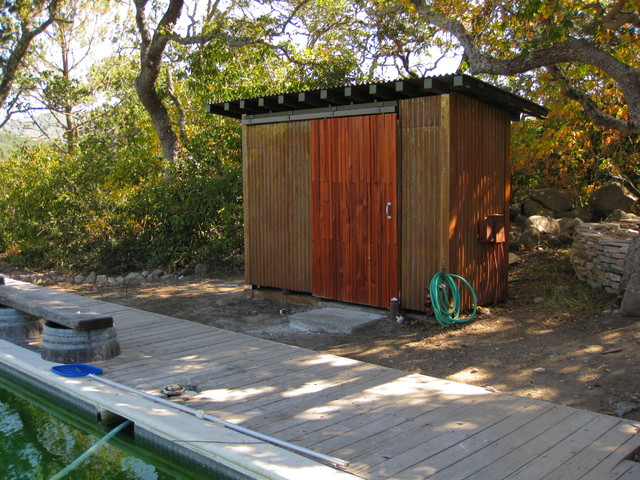 Corten Pool Equipement Shed
