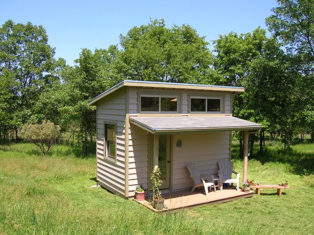 Cottages contemporary shed by conscious construction Small shed roof house plans