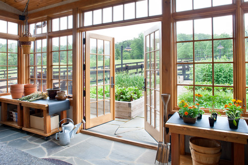 Add French doors to enjoy outside