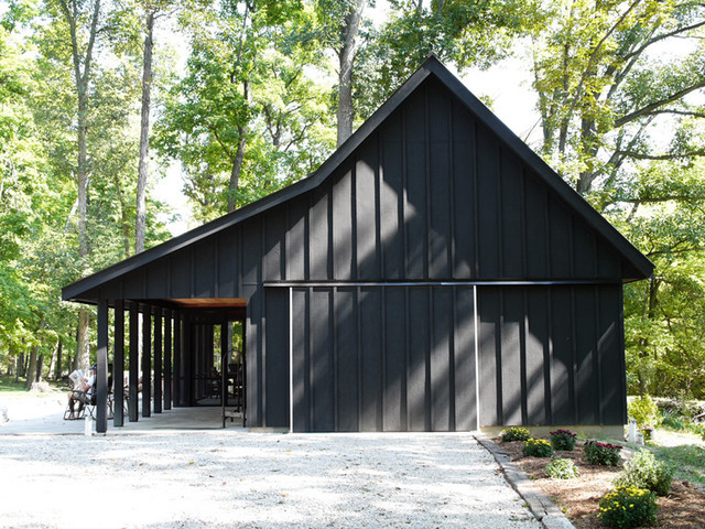 County Line Barn Contemporary Garage And Shed