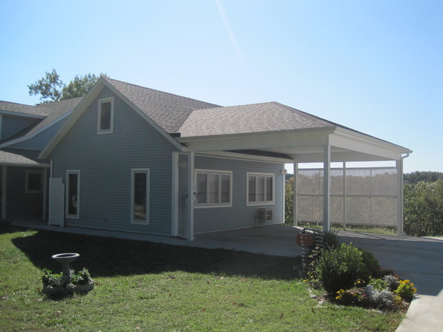 Covered Deck And New Carport Traditional Garage And