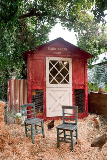 Cozy Country Cottage Traditional Shed Los Angeles