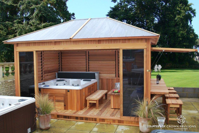 Crown pavilion designs modern garden shed and building