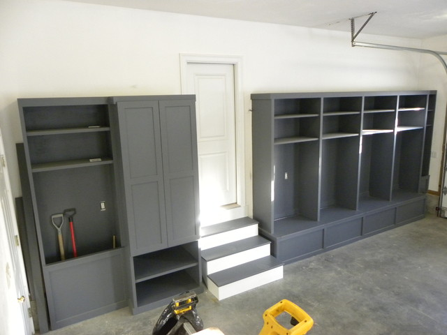 blog sunny shelves garage my new side mudroom lockers the open up organized