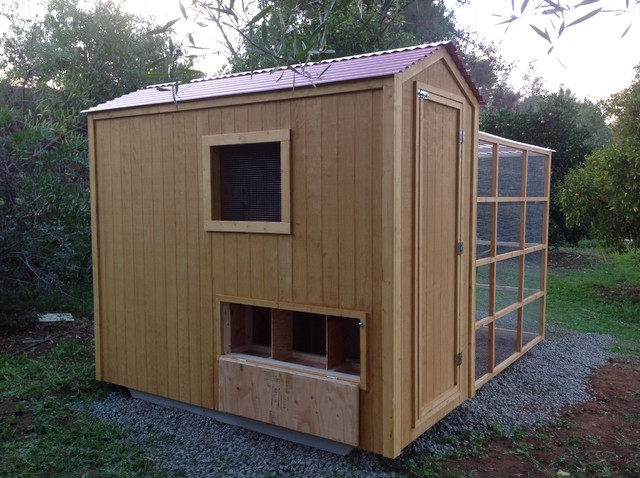 Custom Country Shed En Coop With Run Combo Farmhouse