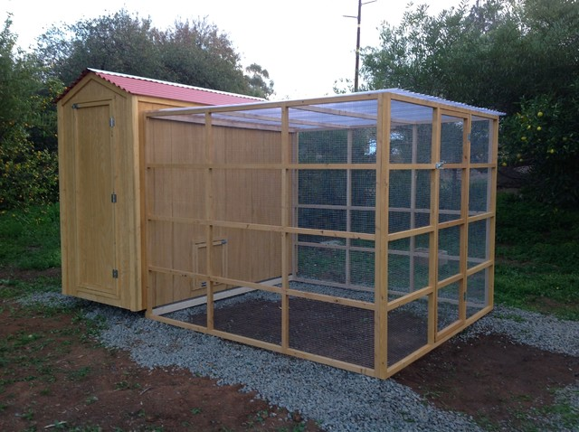 Custom Country Shed Chicken Coop With Run Combo - Farmhouse - Shed ...