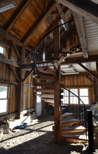 Custom Design/build Spiral Staircase Arts And Crafts Garden Shed