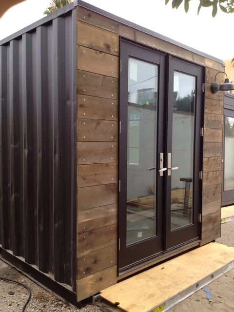 Custom Designed Shipping Containers Rustic Garage And