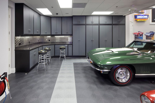 Custom garage workshop designs for Garage design ideas gallery
