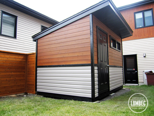 Custom modern shed and Fence - Modern - Garage And Shed ...