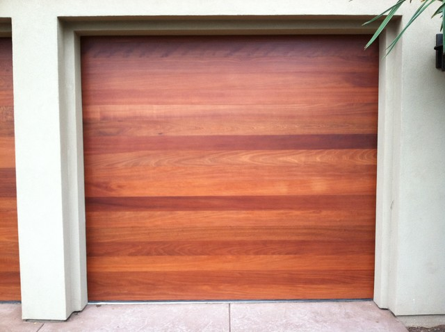Custom wood sectional garage doors contemporary garage and shed