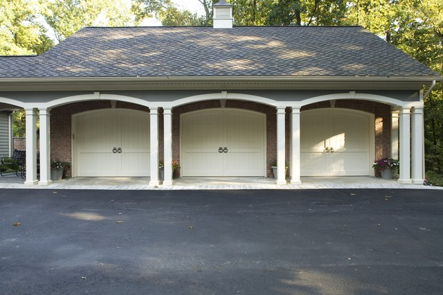 Customizing a Spec House traditional garage and shed