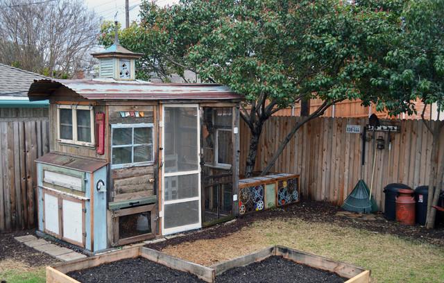Dallas Tx Greenman Curvan Chicken Coop Eclectic Shed Dallas By Sarah Greenman