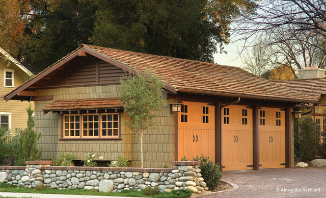 Darling residence craftsman garage and shed other for Arts and crafts garage