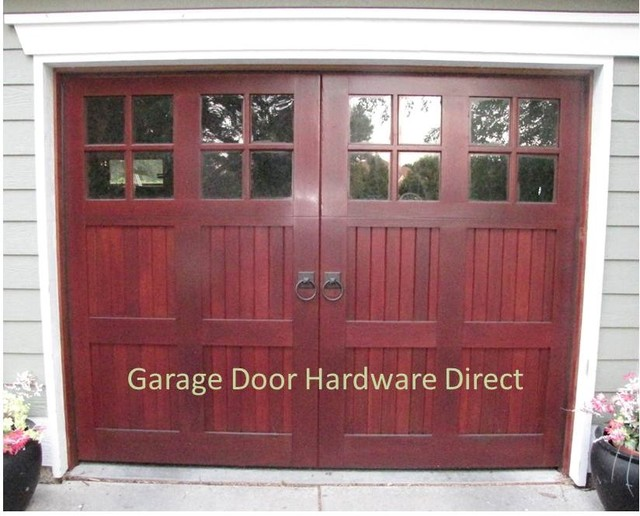 Decorative Garage Door Hardware Uses traditional-garage-and-shed