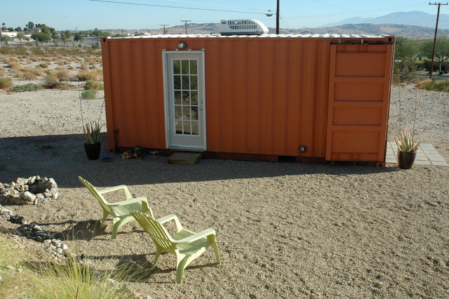 Desert hot springs modern shed los angeles by residential design color llc - Container homes in los angeles ...