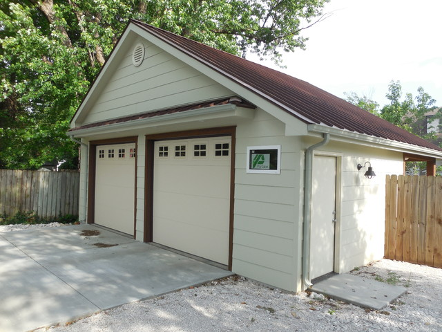 detached garage and workshop addition rustic shed