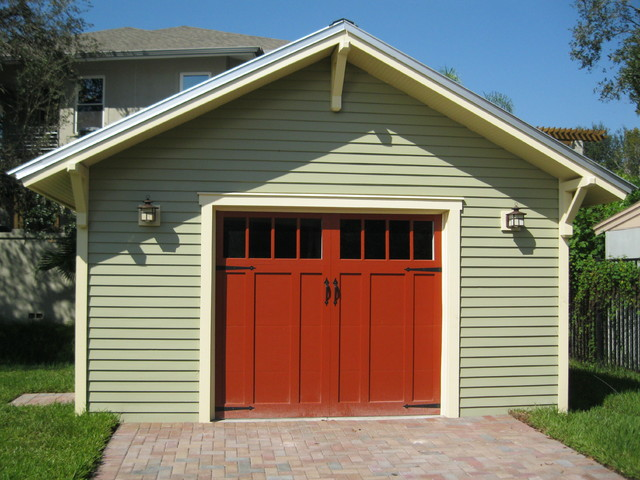 Detached garage craftsman garage and shed other for Craftsman style garage lights