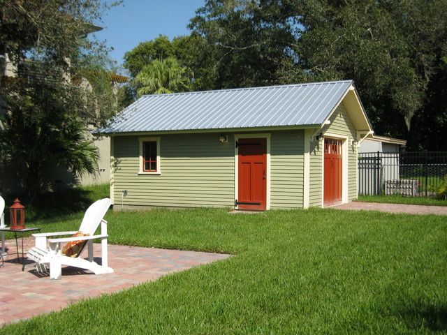 Detached garage arts crafts garden shed and building for How much to build a craftsman style home
