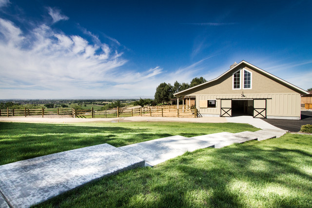Eagle Equestrian Barn and Remodel farmhouse-garage-and-shed