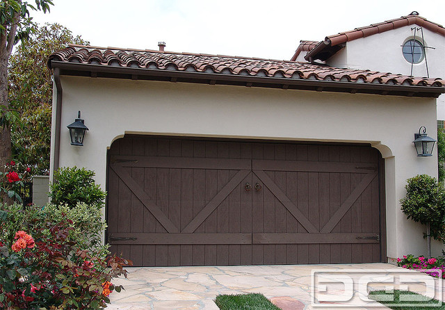 Eco alternative garage doors 12 composite wood garage for Composite wood garage doors