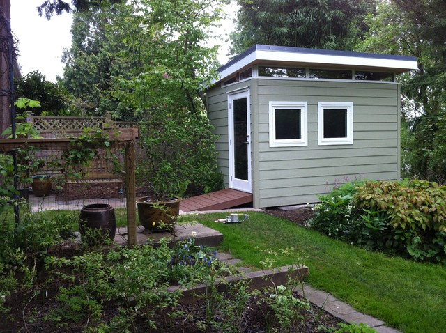 Edgemont 8' x12' Garden Shed - Contemporary - Garage And Shed ...