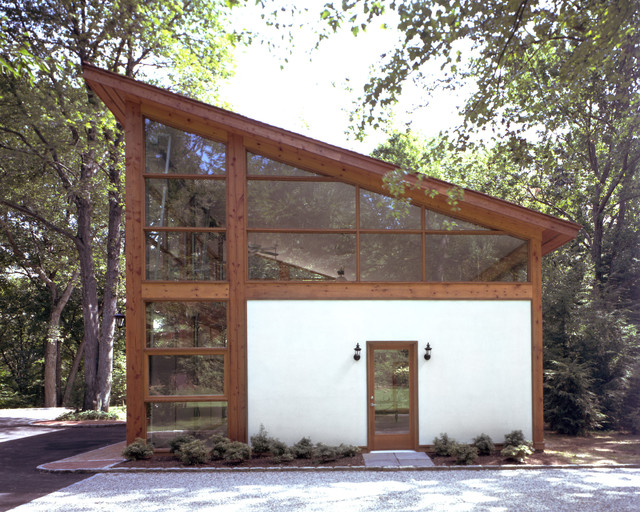 Eisner design contemporary garage and shed for Modern garage plans with loft