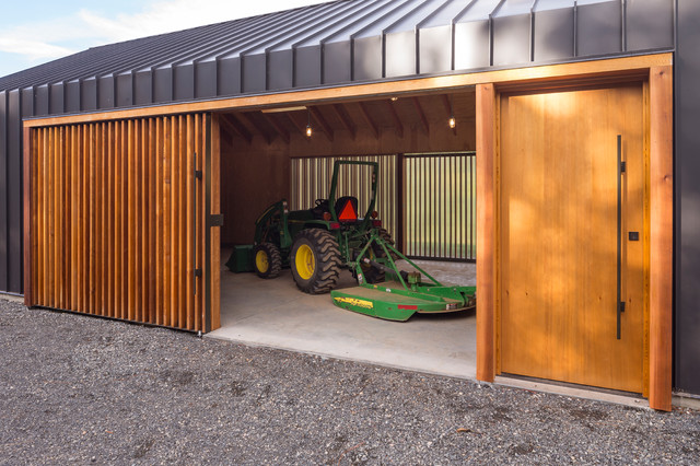 Elk valley tractor shed modern garage and shed for How to build a tractor shed