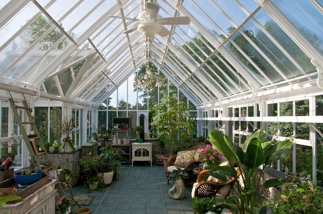 English / Victorian Greenhouses - Glasshouses - Traditional - Greenhouses - boston - by Hartley ...