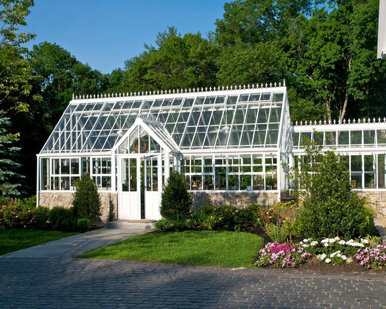English / Victorian Greenhouses - Glasshouses - Hartley Victorian Manor Glasshouse with special glass link to connect to home