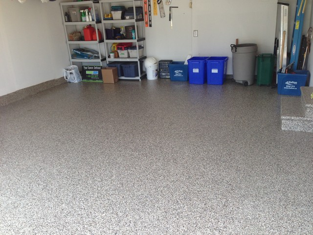 Epoxy Floor traditional-garage-and-shed