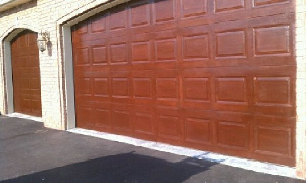 Exterior Painting Faux Wood Finish On Steel Doors