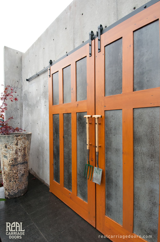 Exterior Sliding Barn Doors Contemporary Shed Seattle By Real Carriage Door Company