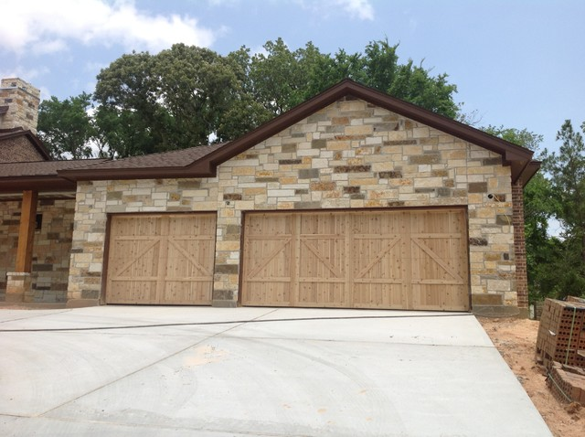 Exteriors traditional garage and shed houston by