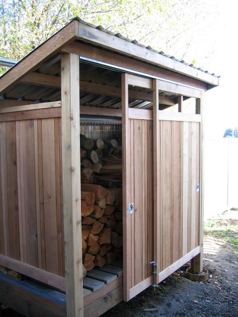 Firewood shed built with reclaimed materials minimalistisch gartenhaus seattle von - Gartenhaus einrichtungstipps ...