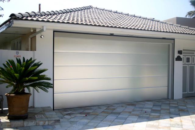 Flush Brushed Aluminum Insulated Garage Door