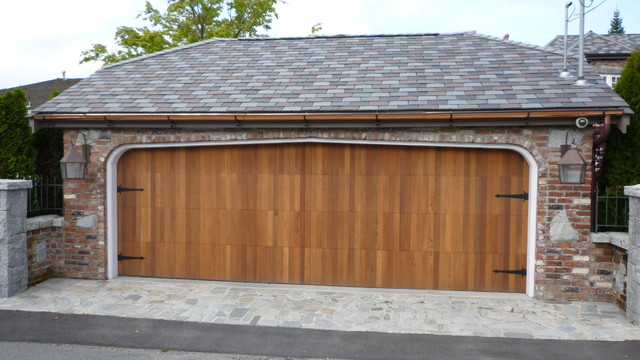 Flush Steel Clopay Garage Door With Custom Overlay