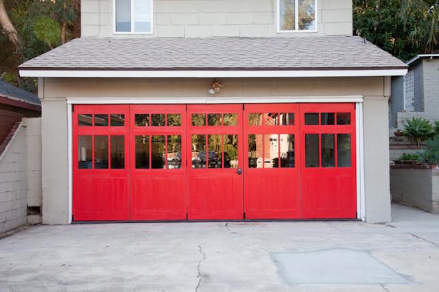 folding garage doors modern shed los angeles by jnkarts