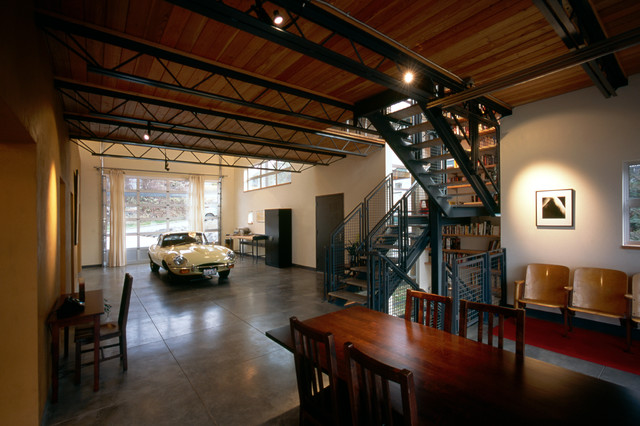 ideas for attic renovation - Fremont Live Work Industrial Garage And Shed seattle