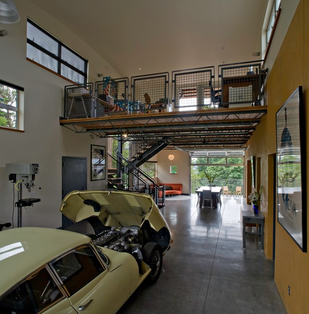 over garage apartment ideas - Fremont Live Work Industrial Garage And Shed seattle