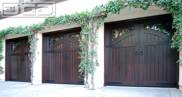 French Garage Doors For A Mediterranean Architectural Home In