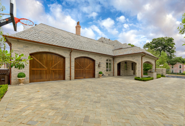 Country French Estate traditional-garage-and-shed